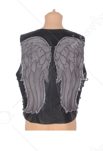 The Walking Dead Daryl Dixon Angel Wings Cosplay Vest Leather Costume