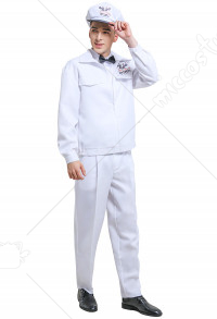 Men The Umbrella Academy Oscar Milkman Cosplay Costume Outfit Uniform with Cap