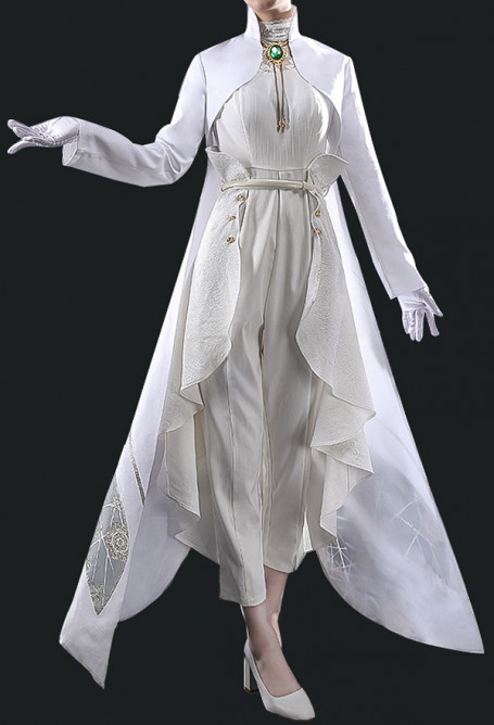 Violet Evergarden White Wedding Suit Tuxedo Dancing Dress Gown Cosplay Costume for Women