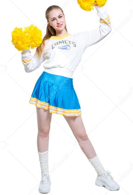 Val­ley Girl Women Cheerleaders Uniform Sweater and Skirt Outfit Cosplay Costume