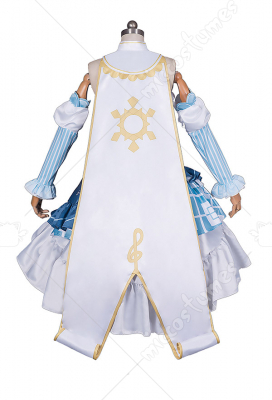 Vocaloid Snow Miku Cosplay Costume