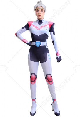 VLD 3D Printed Princess Allura Pink Paladin Team V Cosplay Jumpsuit Uniform with Hood