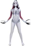 Venom Gwen Cosplay Costume Hooded Bodysuit Jumpsuit