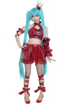 Miku Project DIVA- F 2nd Vintage Dress Ver Cosplay Costume Full Set