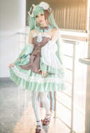 Vocaloid Miku Mint Brownie Fashion Lolita Dress Cosplay Costume