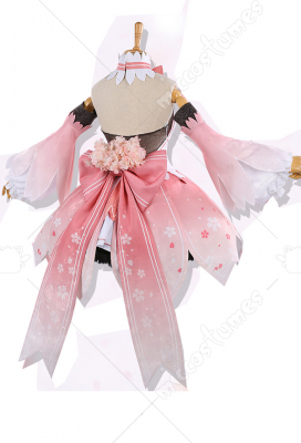 Vocaloid Sakura Miku Pink Dress Cosplay Costume