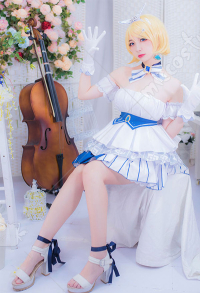 Vocaloid Kagamine Rin Snow Princess Dress Outfit Set Cosplay Costume