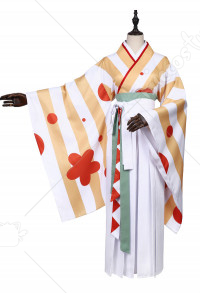 Vocaloid Kagamine Rin Japanese Style Kimono Cosplay Costume