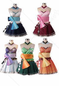 Vocaloid Kimagure Mercy Miku Luka Haku Gumi Teto Japanese Style Dress Cosplay Costume