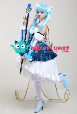 Exclusive Snow Princess Snow Miku 2019 Cosplay Costume Dress Set