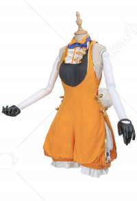 Vocaloid Kagamine Rin Alice in Wonderland Daily Cosplay Costume Jumpsuit Outfits