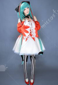 Costume de Cosplay  Miku Robe Cat Food Clown Nekomusume Version