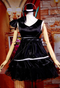 Vocaloid Megurine Luka Magent Cute Sweet Lolita Jumper Dress with Ruffles