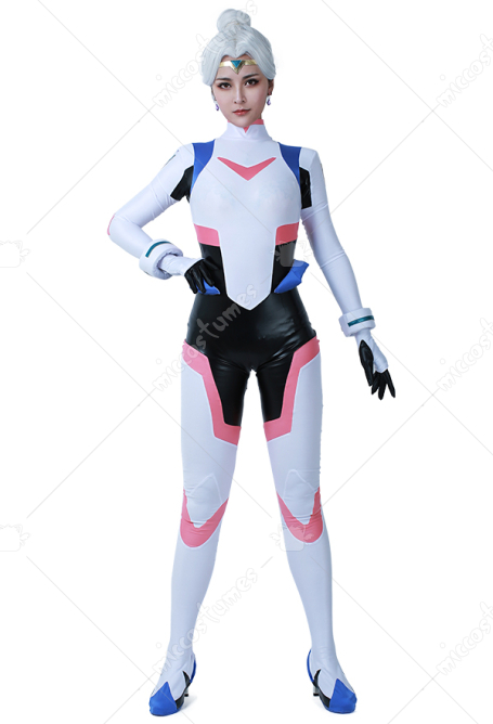 Princess Allura Cosplay Costume Bodysuit Jumpsuit Battlesuit