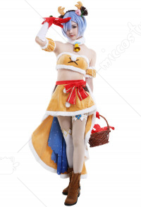 [Free Economy Shipping] White Cat Project Re Zero Collaboration Rem Cosplay Costume Cute Christmas Outfits