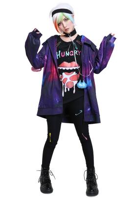 Wolf Game Ookami Rintarou Iida Cosplay Costume with Choker and Headband