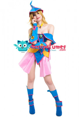 Yu-Gi-Oh Dark Magician Girl Cosplay Costume with Hat