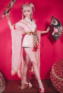 OnmyojiDance Dress Japanese Style SSR Shiranui Open Back Dress With Yarn Sleeves