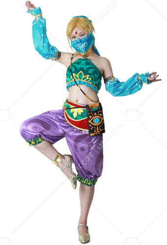 3036ddc205194 Female The Legend of Zelda Breath of the Wild Link Women Gerudo Outfit  Cosplay Costume