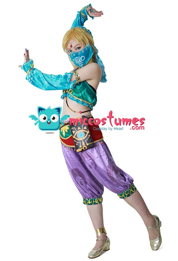 Weibliche The Legend of Zelda Breath of the Wild Link Gerudo Outfit Cosplay Kostüm