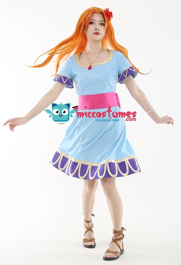 The Legend of Zelda Links Awakening Marin Cosplay Kostüm Kleid