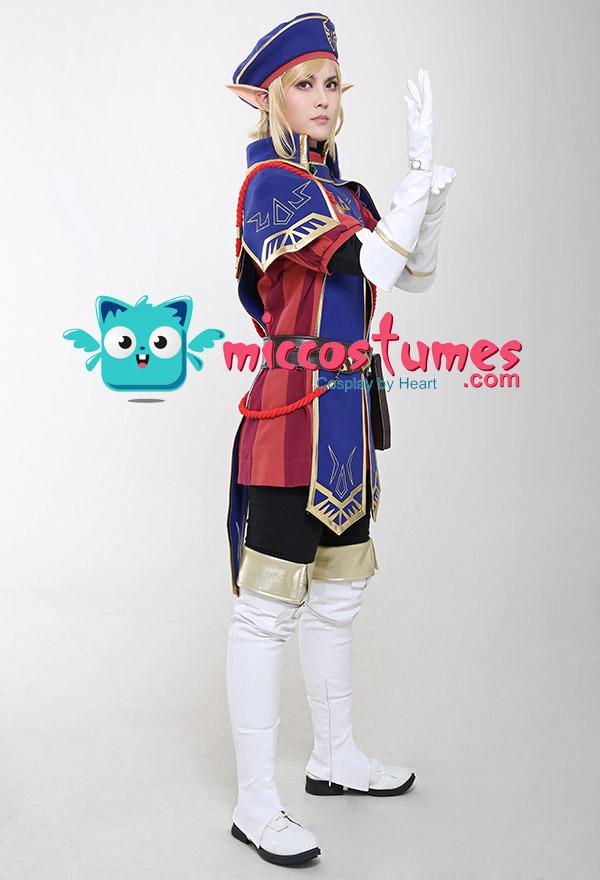 The Legend of Zelda Breath of the Wild Royal Guard Uniform Link Cosplay Kostüm Set