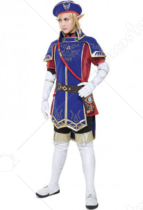 The Legend of Zelda Breath of the Wild Royal Guard Uniform Link Cosplay Costume Set