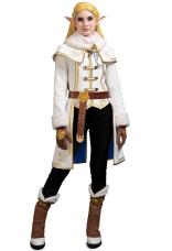 The Legend of Zelda Breath of the Wild Princess Zelda Winter Outfit Dress Cosplay Costume Set