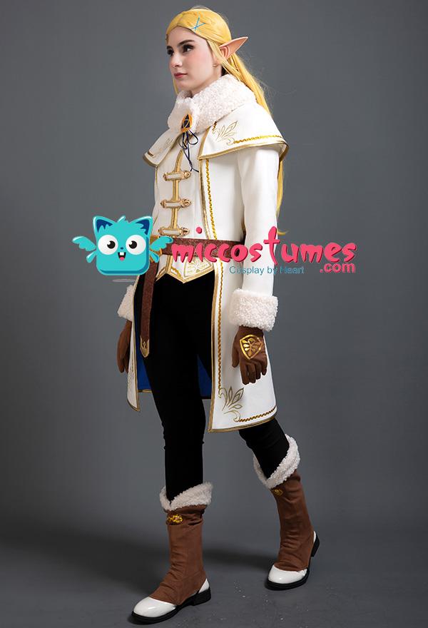 The Legend of Zelda  Breath of the Wild Prinzessin Zelda Winter Outfit Kleid Cosplay Kostüm Set