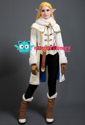 The Legend of Zelda Breath of the Wild Princess Zelda Winter Outfit Dress Cosplay Costume Set