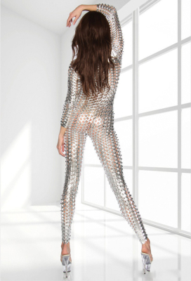 [Free US Economy Shipping] Holloween Jumpsuit Patent Leather Glossy Lingerie Bodysuit Zentai