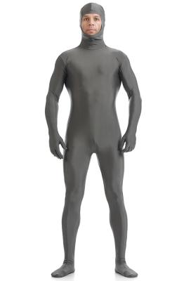 Halloween Cosplay Jumpsuit Performance Bodysuit Multi Color Face Open Zentai