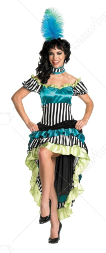 Can Can Cutie Striped Adult Costume
