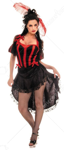 Can Can Red Black Adult Costume