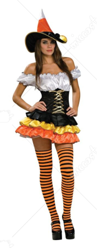 Candy Corn Cutie Adult Witch Costume
