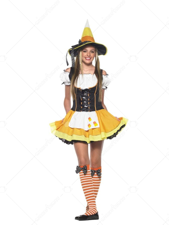Candy Corn Costume http://www.miccostumes.com/Candy_Corn_Witch_Teen_Costume_18836p.html
