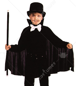 Cape Child Black Costume