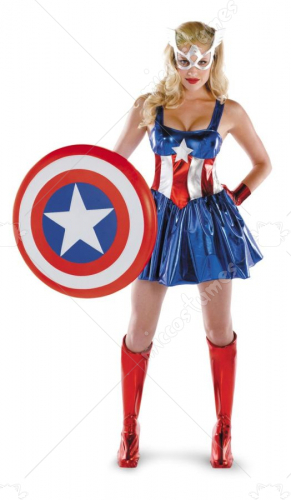 Captain America Deluxe Female Costume