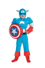 Captain America Deluxe Muscle Costume