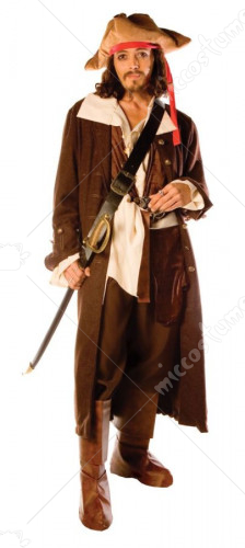 Captain Jack Man One Size Adult Costume