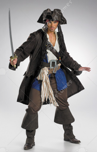 Captain Jack Sparrow Prestige Prm Adult Costume