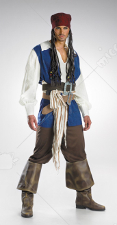 Captain Jack Sparrow Teen Costume-Boots not included