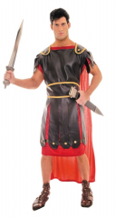 Centurion Black Red One Size Adult Costume