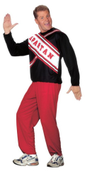 Cheerleader Spartan Guy Adult Costume