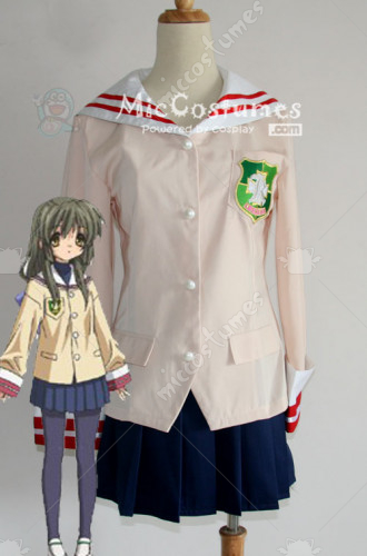 Clannad Grade One Girl School Uniform Cosplay Costume