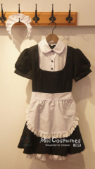 Classic Japanese Maid Cotton Costume
