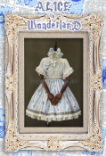 Classical Puppets Alice in Wonderland Short Sleeves Lolita Dress