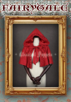 Classical Puppets Red Gothic Lolita Hoody Cape