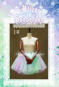 Classical Puppets Rainbow Organdy Layered Lolita Petticoat