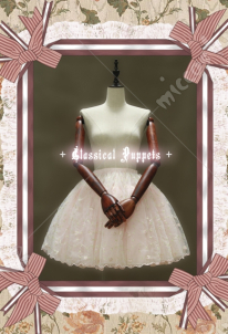 Classical Puppets Embroidery Organdy Lolita Petticoat